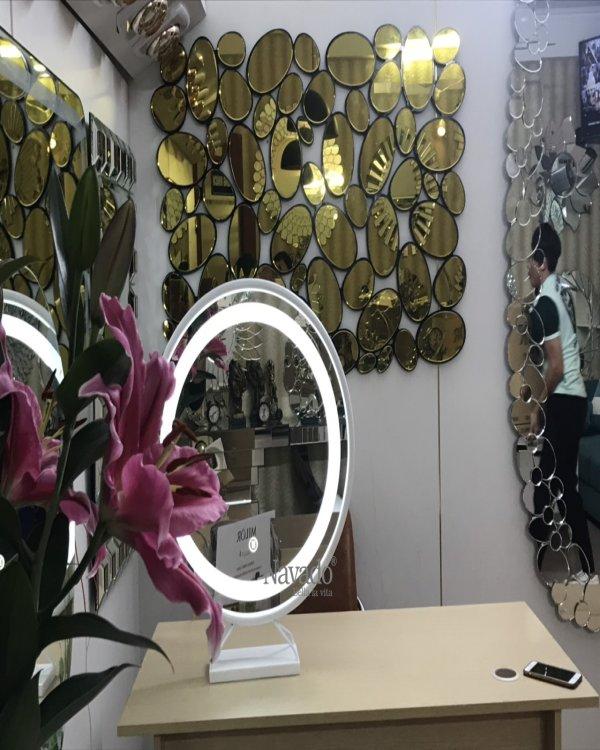 Inox Gold Frame Bathroom Mirror