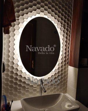 The High-end Led Ellipse Bathroom Mirror