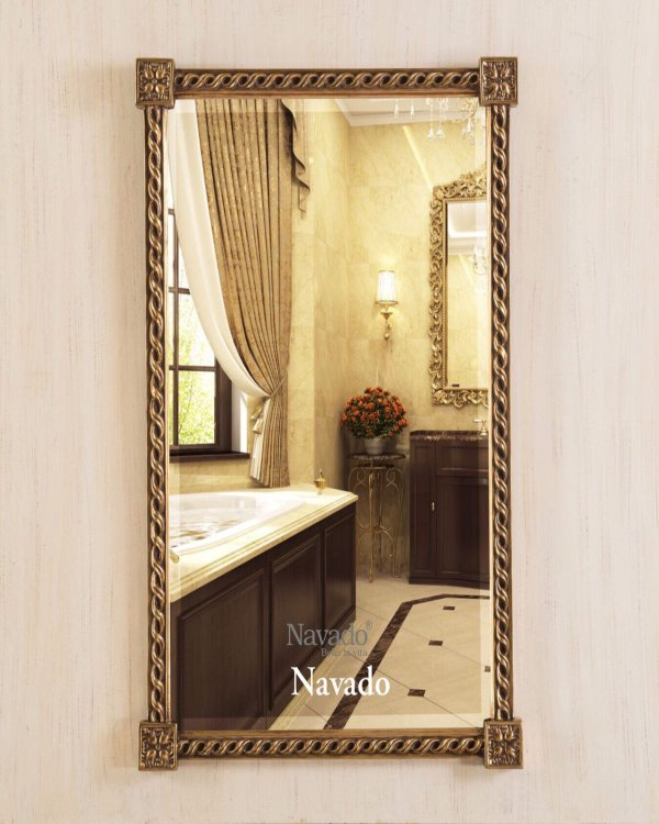 Classic Electra Silver Hanging Living Room Mirror