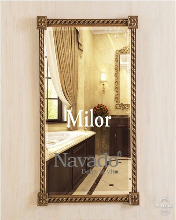 Leather Strapped Circular Mirror