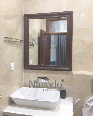 WoodFrame Bathroom Mirror