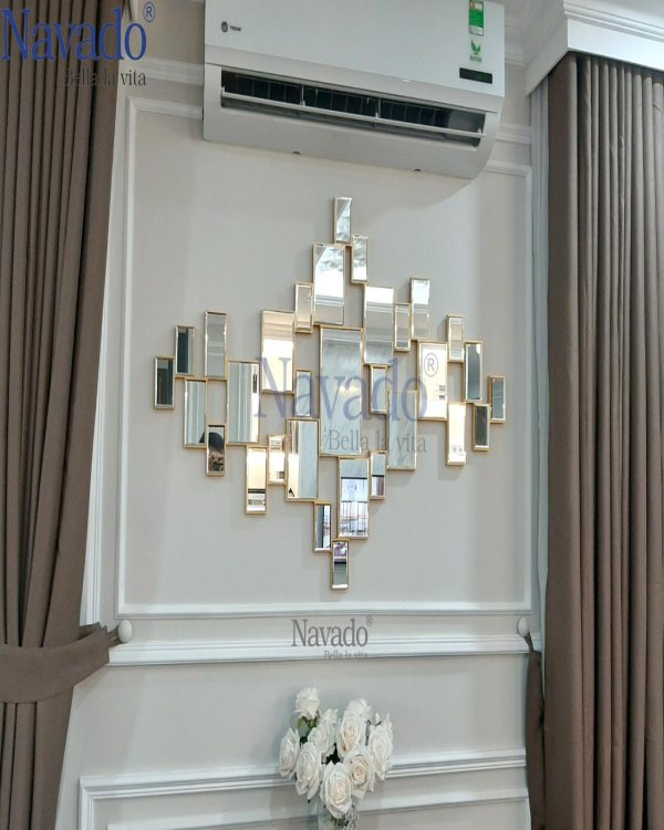 The luxury hanging wall living room mirror
