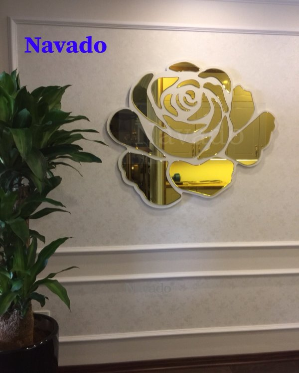 Rose hanging wall living room mirror
