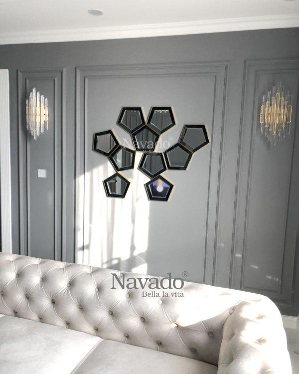 Decorative mirror art wall living room