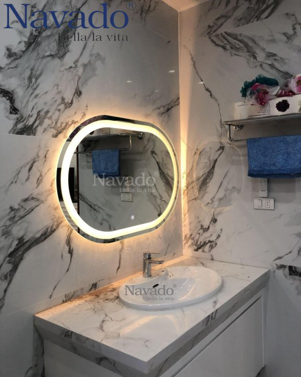 MIRROR BATHROOM LED BATHROOM 60 X 80CM