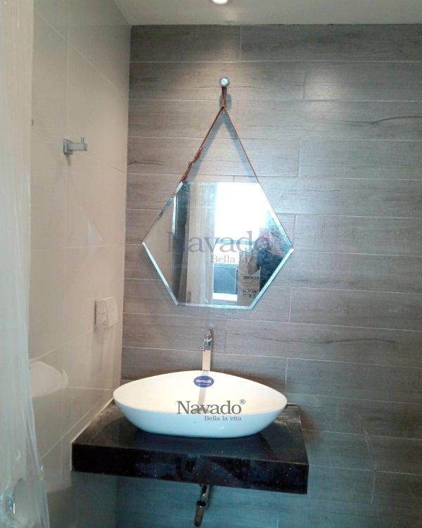 MIRROR BATHROOM BATHROOM HANGING SKIN D50CM