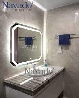 WHITE MIRROR LED BATHROOM 70 X 90 CM
