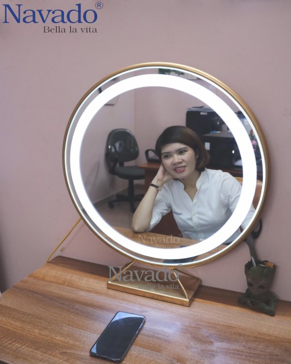 MIRROR TABLE FOR MAKEUP LED D60CM