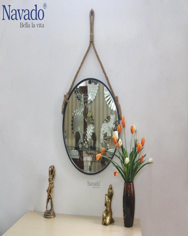 Round rope  makeup mirror