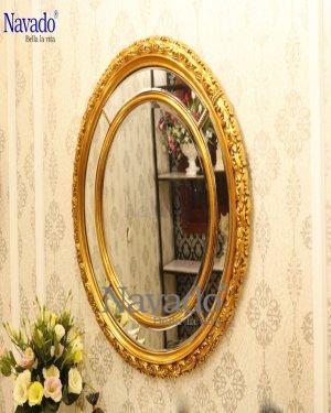 Decorate lingving room Aura mirror