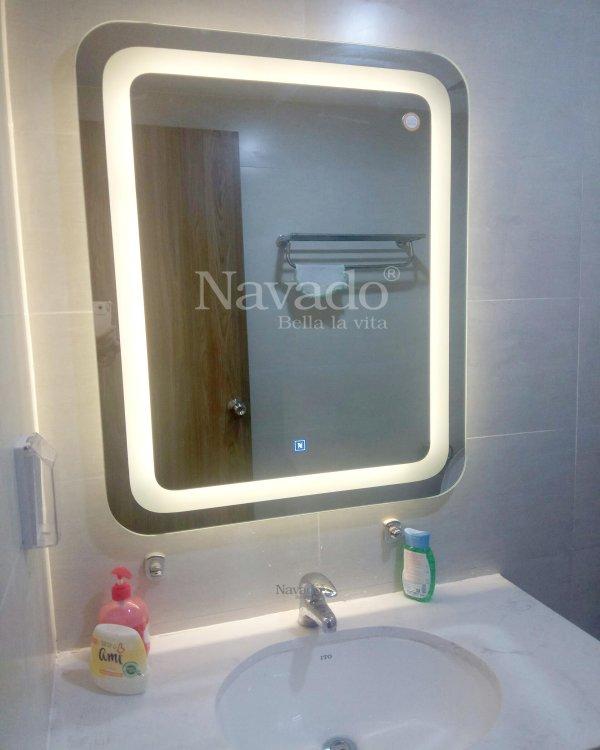 Round corner square led mirror
