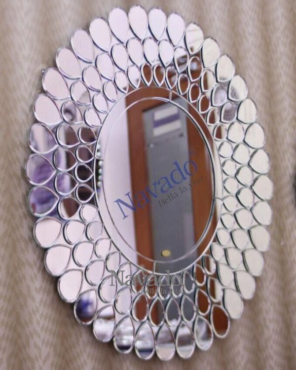 METAL HIGH ART WALL MIRROR MOUNTED