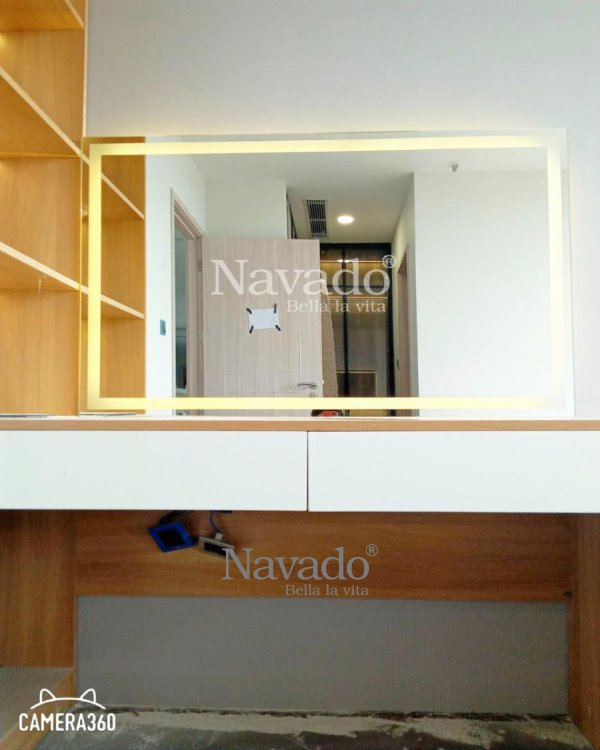 MAKEUP MIRROR FRAME WITH LED 68 X 80CM