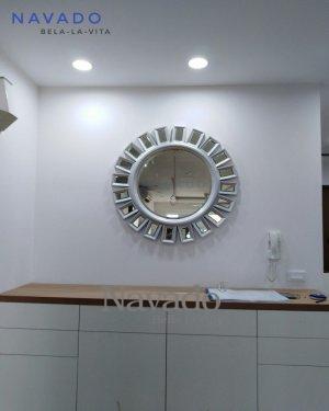 Sophia white living room mirror