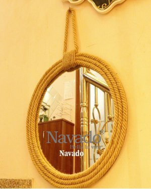 Mirror hanging rope decor