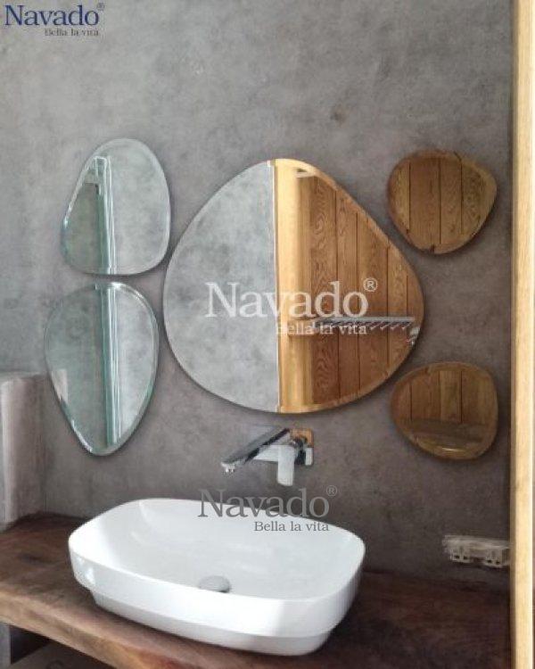 Stone bathroom decoration