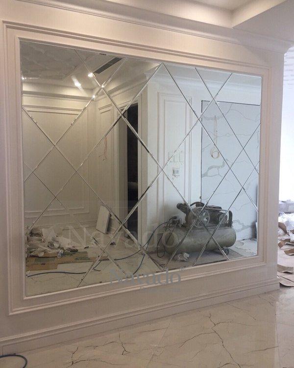 Unique living room collage mirror