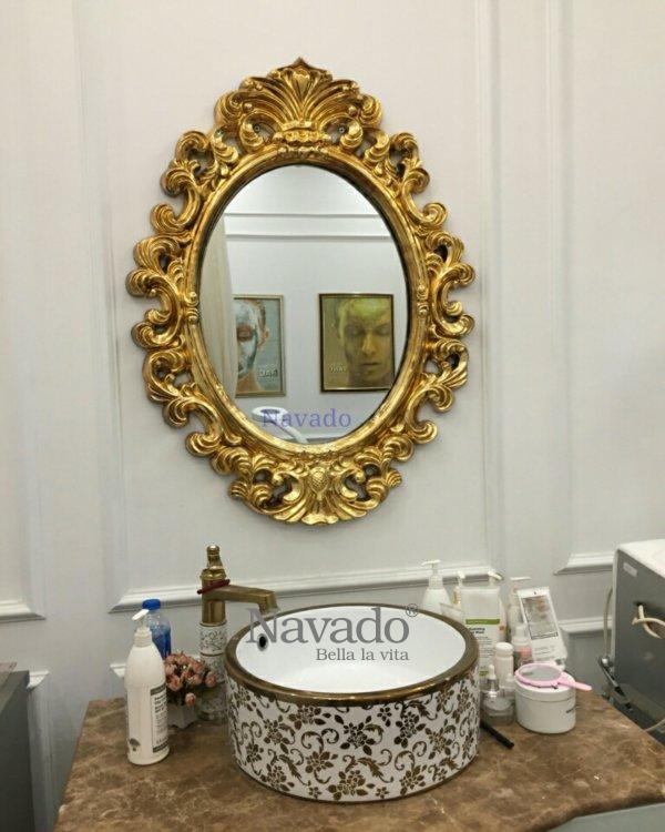 Neoclassical mirror Zeus bathroom