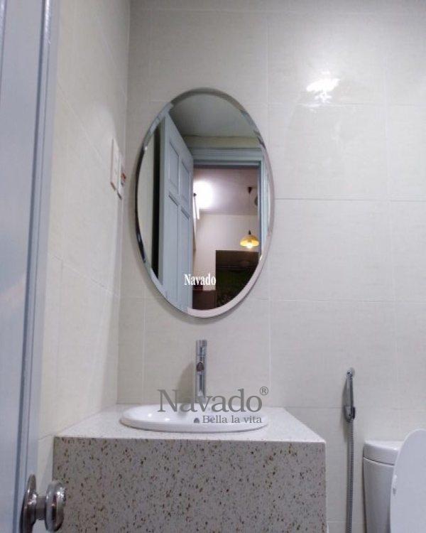 Round mirror beveled 60cm