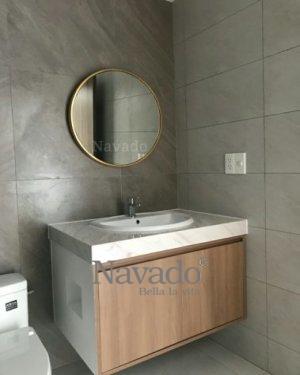 Oras round mirror smooth rim 70cm