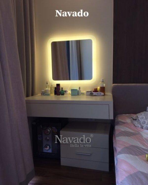 Mirror led sandblasted dressing table