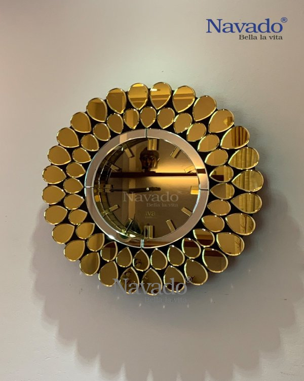 ART LUXURY CLOCK MIRROR DECORATE HOUSE