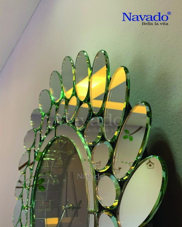 DECORATE CLOCK MIRROR FOR LIVING ROOM