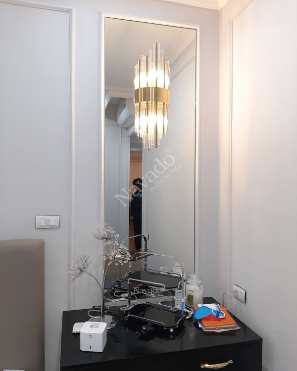 LARGE MIRROR WALL DECORATE LIVINGR ROOM