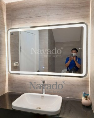 MODERN RECTANGLE DECORATE BATHROOM MIRROR
