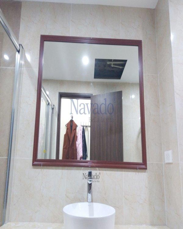 CLASSIC WOODEN FRAME HANOI BATHROOM MIRROR