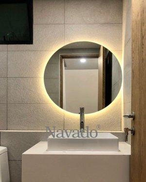ROUND LED WALL BATHROOM MIRROR
