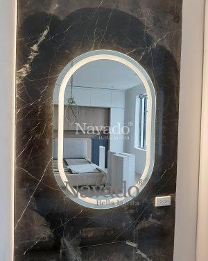 LED  MIRROR HAVE INOX FRAME WALL BATHROOM