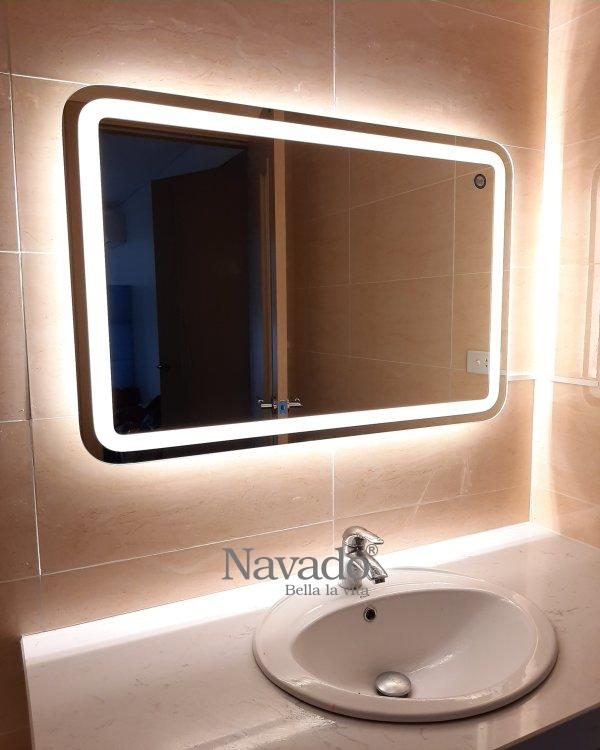 MODERN LED BATHROOM WALL DECORATE MIRROR