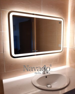 MODERN LED BATHROOM WALL DECORATE MIRROR