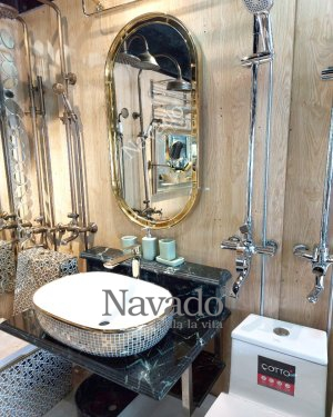 LUXURY OVAL DECORATE BATHROOM MIRROR