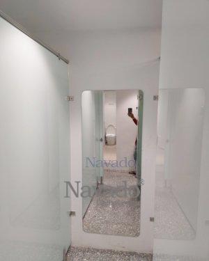 FULL BODY MIRROR WALL MODERN BATHROOM