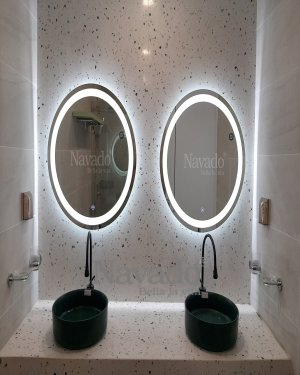 ROUND LED MIRROR WALL MODERN BATROOM