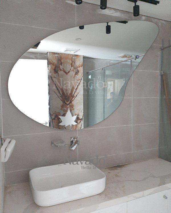 DECOR STONE MIRROR DESIGN WALL BATHROOM
