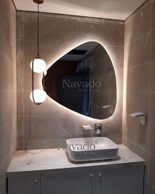 LED STONE BATHROOM MIROR LUXURY