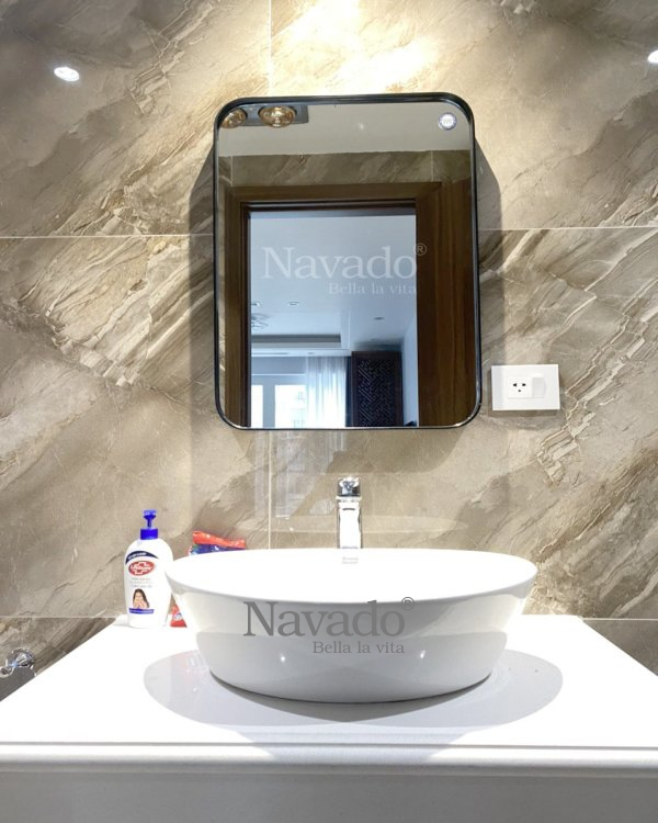 WALL RECTANGLE  BATHROOM MIRROR WITH LUXURY BLACK FRAME