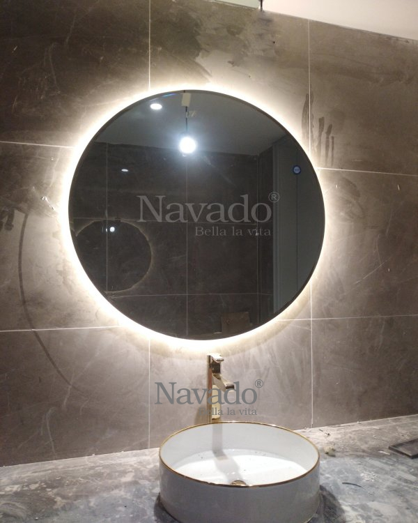 WALL BATHROOM ROUDN LED MIRROR