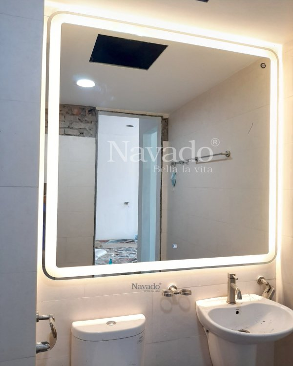 LED SQUARE MIRROR FOR BATHROOM MIRROR WITH LARGE SIZE