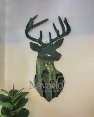 ART DECOR DEER MIRROR