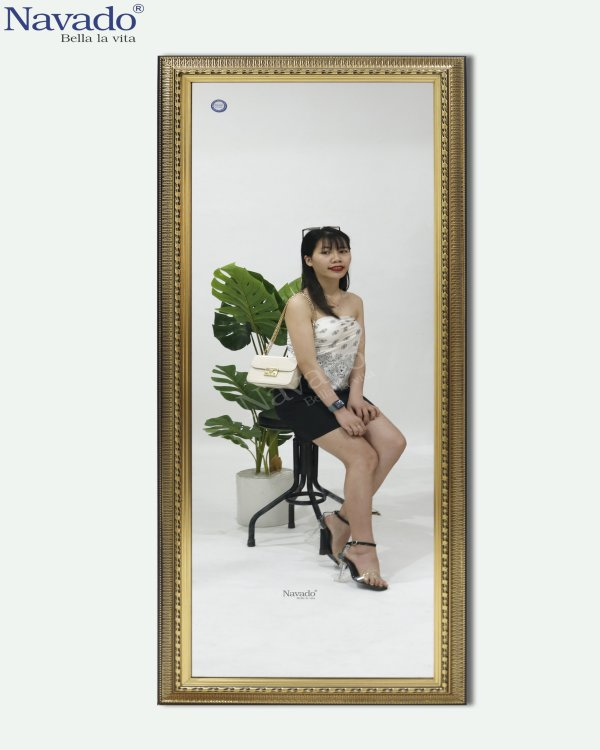 BEDROOM DECOR FULL BODY MIROR WITH LUXURY GOLD FRAME