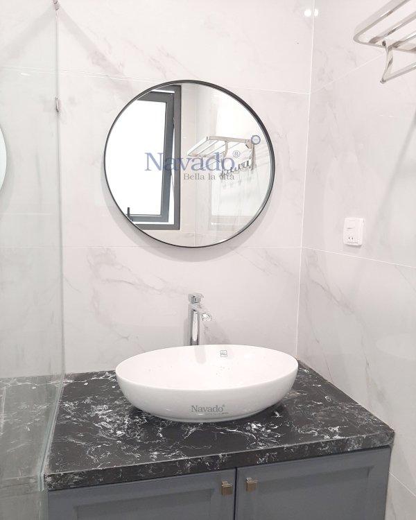 MODERN ROUND BATHROOM MIRROR WALL DECOR