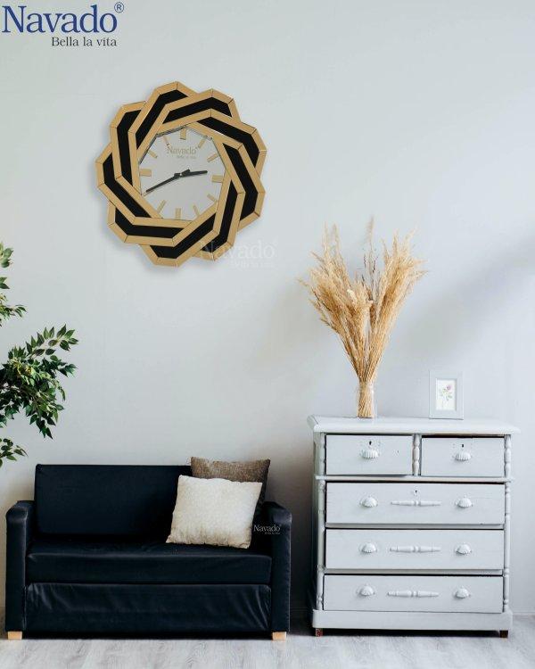 SPIDER ART DECOR LIVING ROOM MIRROR CLOCK
