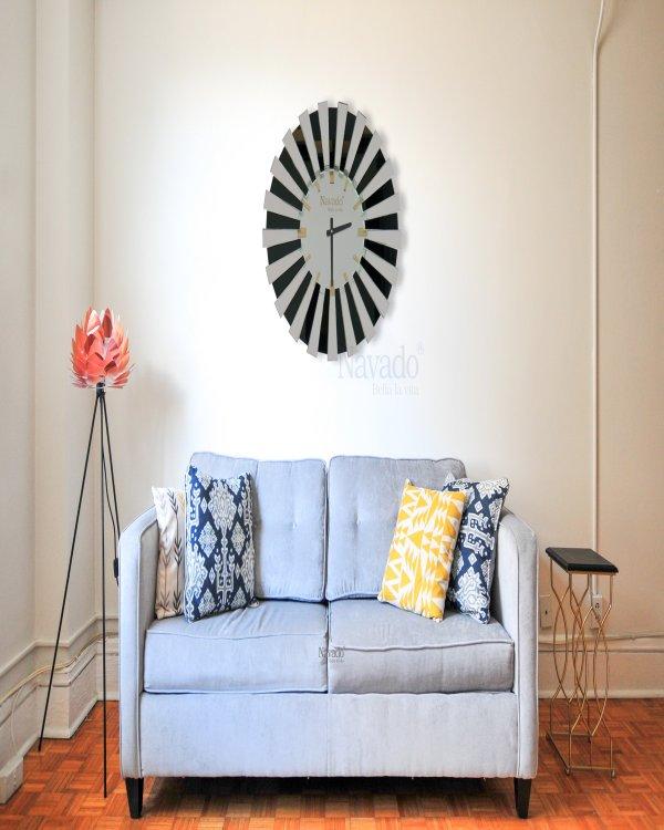 LIVING ROOM ART CLOCK MIROR FOR DECORATE