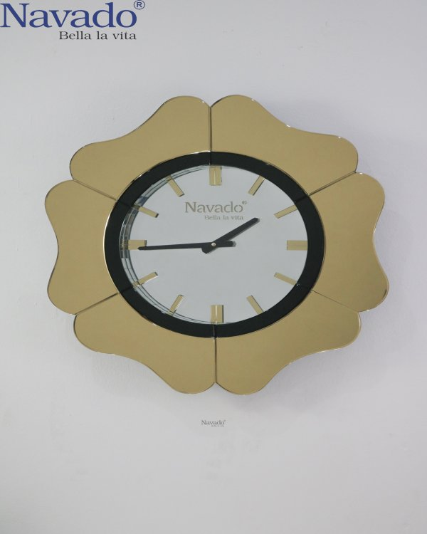 LUXURY GOLD MIRROR CLOCK FOR HOUSE DECOR