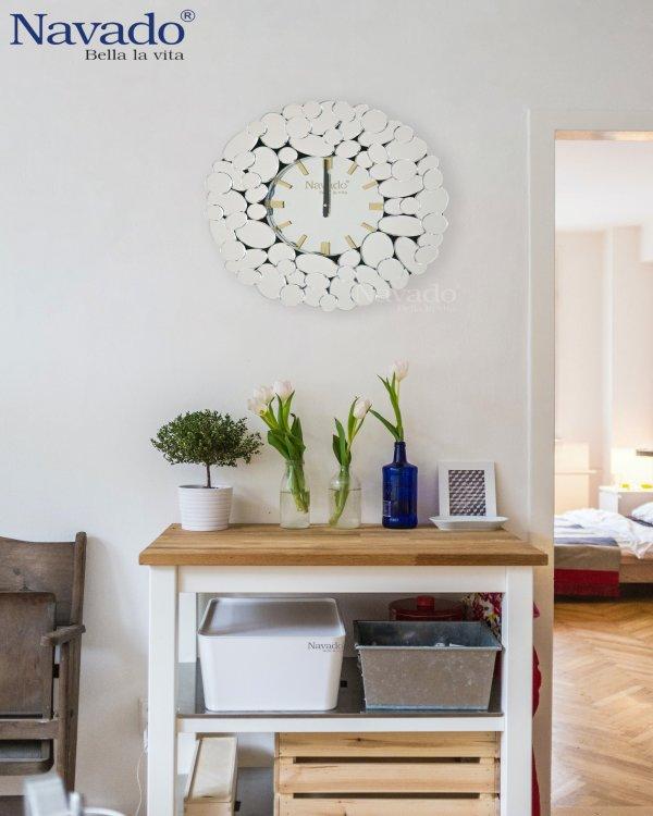 BUBBLE MIRROR CLOCK DESIGN FOR WALL HOUSE
