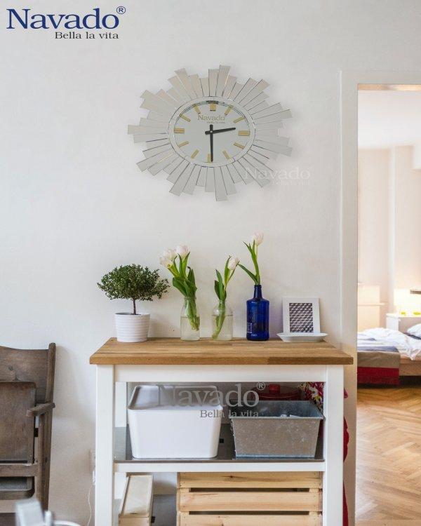 MIRROR CLOCK ART HOUSE DECOR ITEM